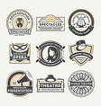 dramatic theatre vintage isolated label set vector image vector image