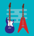 electric guitars instruments icons vector image vector image