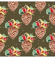 Fir Cones Snowy Background vector image vector image