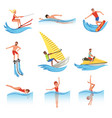 flat set with young men and women involved vector image