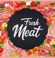 gastronomic meat products vector image vector image