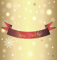 Golden shiny card for christmas and new year vector image vector image