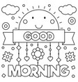 good morning coloring page vector image