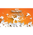 halloween background with pumpkin crow and vector image vector image
