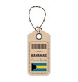 hang tag made in bahamas with flag icon isolated vector image vector image
