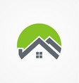 home roof building logo vector image vector image