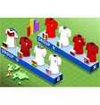 Isometric Nations Groups for Soccer World Cup vector image