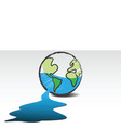 leaking world vector image vector image