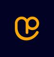 letter np smile creative business logo design vector image vector image