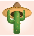 mexican cactus character icon vector image