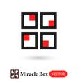 Miracle Box abstract symbol vector image