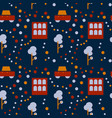 neighborhood life seamless pattern vector image vector image