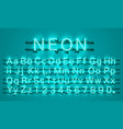 neon city color lime green font english alphabet vector image vector image