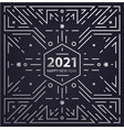 new year 2021 geometric linear concept vector image vector image