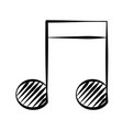 note music doodle vector image vector image