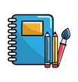 notebook school tools icon vector image vector image