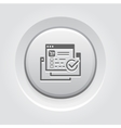 Order Processing Icon Grey Button Design vector image vector image