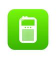 portable radio icon green vector image vector image