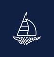 sailing logo vector image