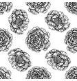 seamless pattern with black and white peony vector image