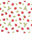seamless raspberry pattern vector image vector image