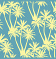 seamless tropical palms pattern summer endless vector image vector image