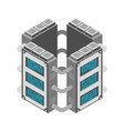server data center isometric style internet vector image
