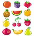 set juicy fruit vector image