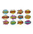 set of comic speech bubbles cartoon vector image