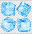 set of transparent ice cubes vector image vector image