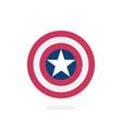 shield with a star superhero vector image vector image