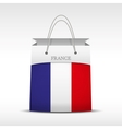 Shopping bag with France flag vector image vector image