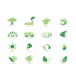 simple green icons vector image vector image