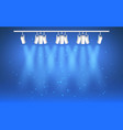 spotlight on blue background light effect bright vector image