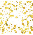 star confetti gold random confetti background vector image
