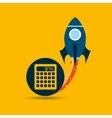 start up globe business calculator vector image