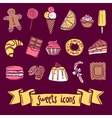 Sweet Icon Set vector image