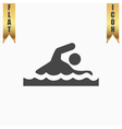 Swimming flat icon vector image vector image