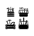 toolbox icon set design isolated vector image