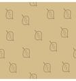 Tree leaf brown seamless pattern vector image vector image