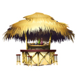 Tropical bungalow bar isolated drawing vector image