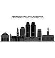 usa pennsylvania philadelphia architecture vector image vector image