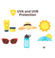uva and uvb protection concept vector image