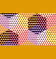violet and yellow geometric textured pattern vector image
