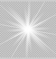 white beautiful glow light vector image