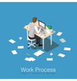 Working and studying concept vector image vector image