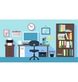 Workplace in office room vector image