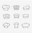 chef or baker hats and toques vector image