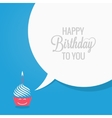 birthday cupcake comic character design background vector image