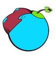 globe with island and palm tree icon icon cartoon vector image